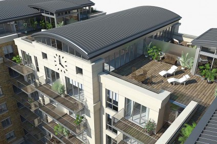 3D imagery for property developers Fulham Reach