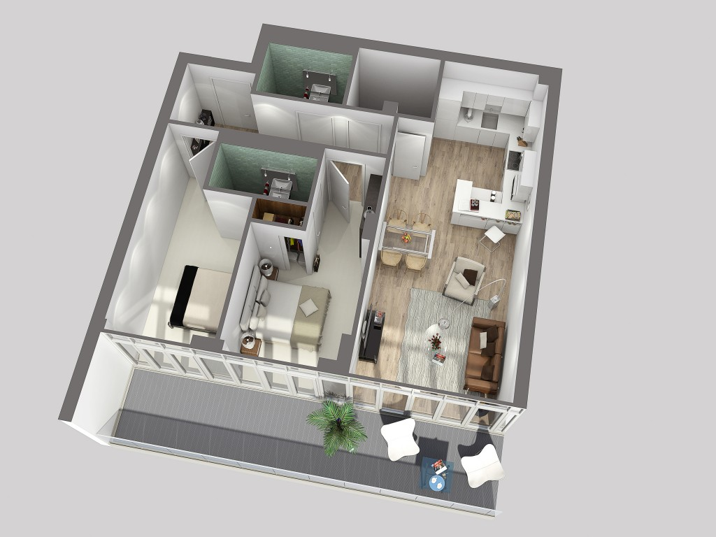AQ – 2Bed Sectional Plan – 160114