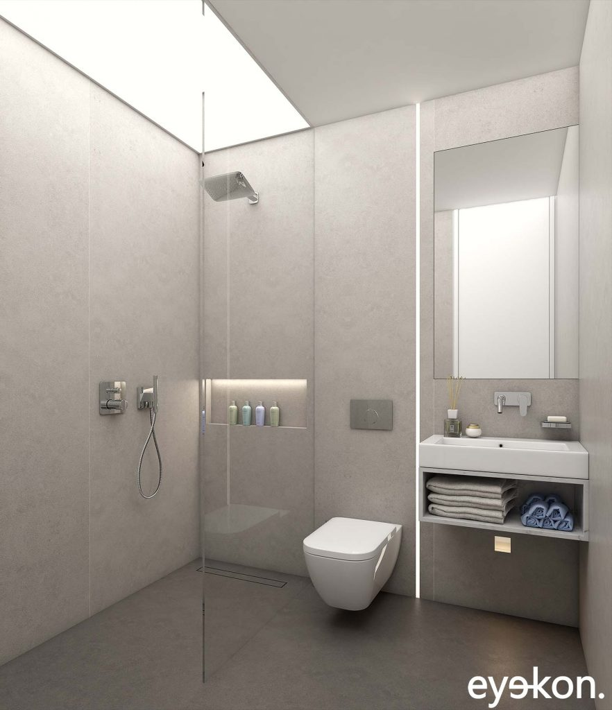 Property Brochure CGI visualisation bathroom