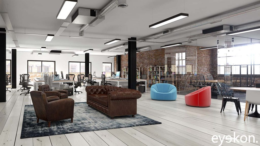 Commercial Office CGIs for marketing purposes