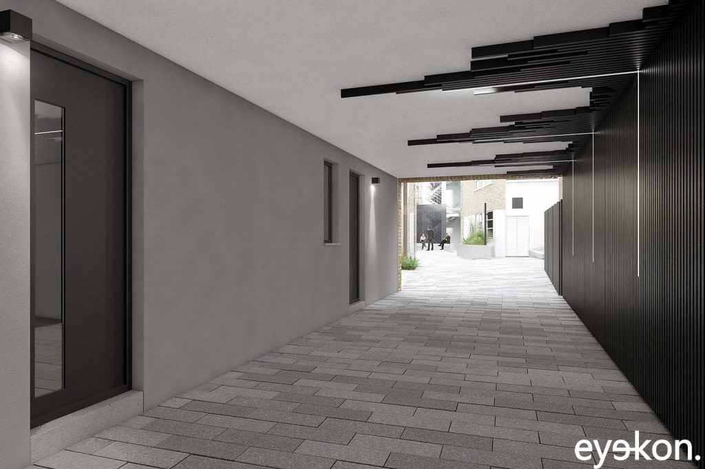 Commercial property marketing brochure – exterior CGI